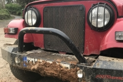Well spent day! Mud on the Thar's front bumper.